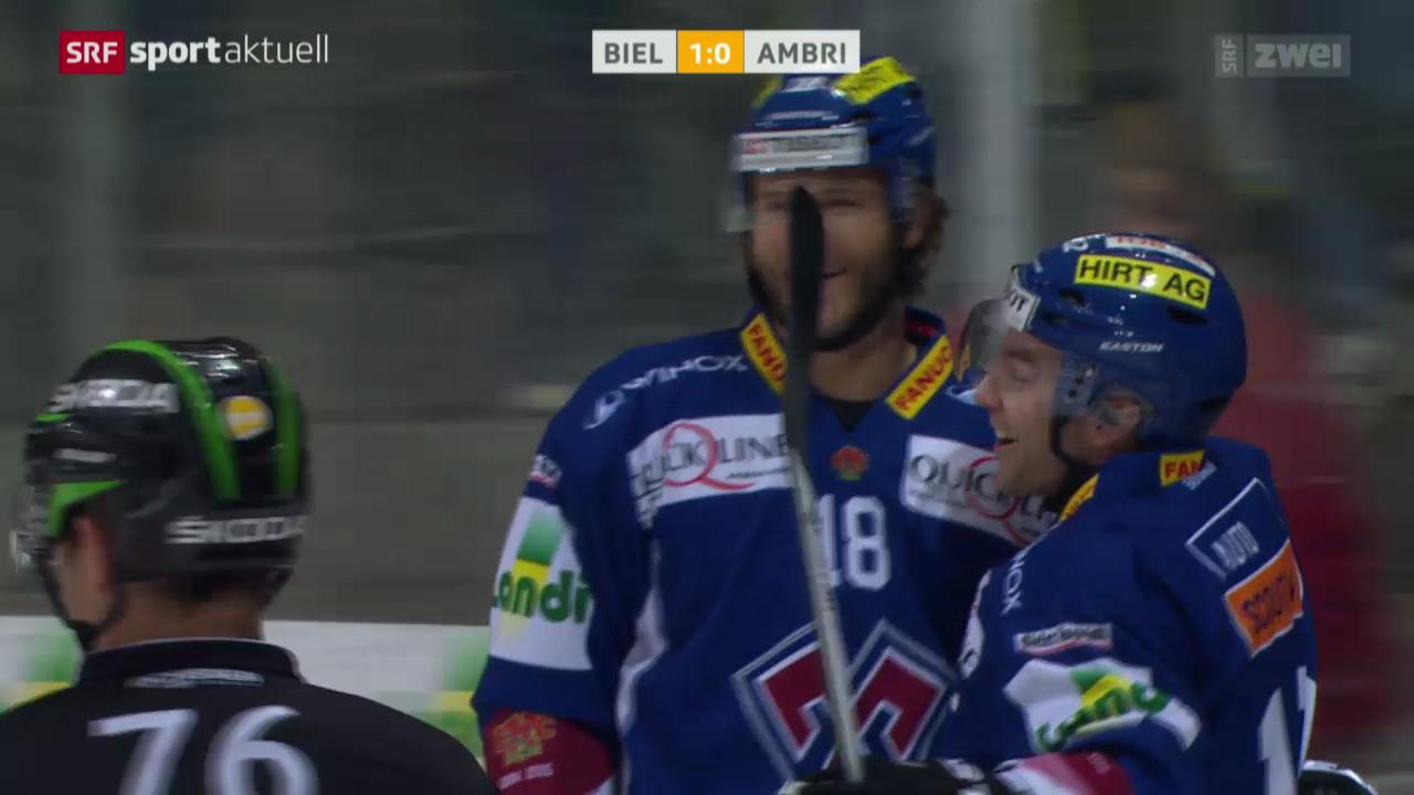 Eishockey: NLA, Biel - Ambri