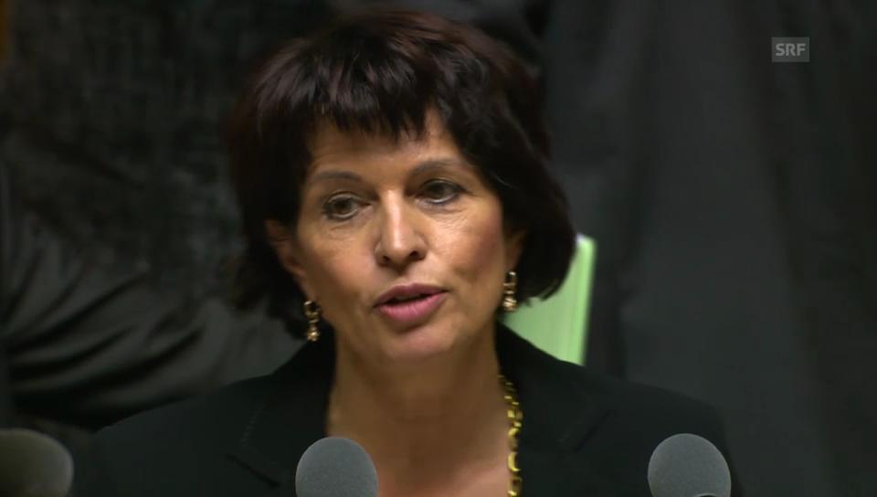 Doris Leuthard: «Abgabe beim Hersteller erheben nicht möglich»