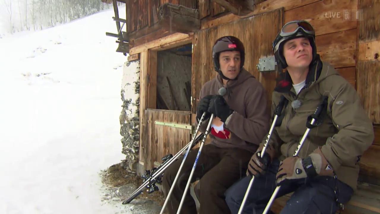 Roman und Reto im Schnee
