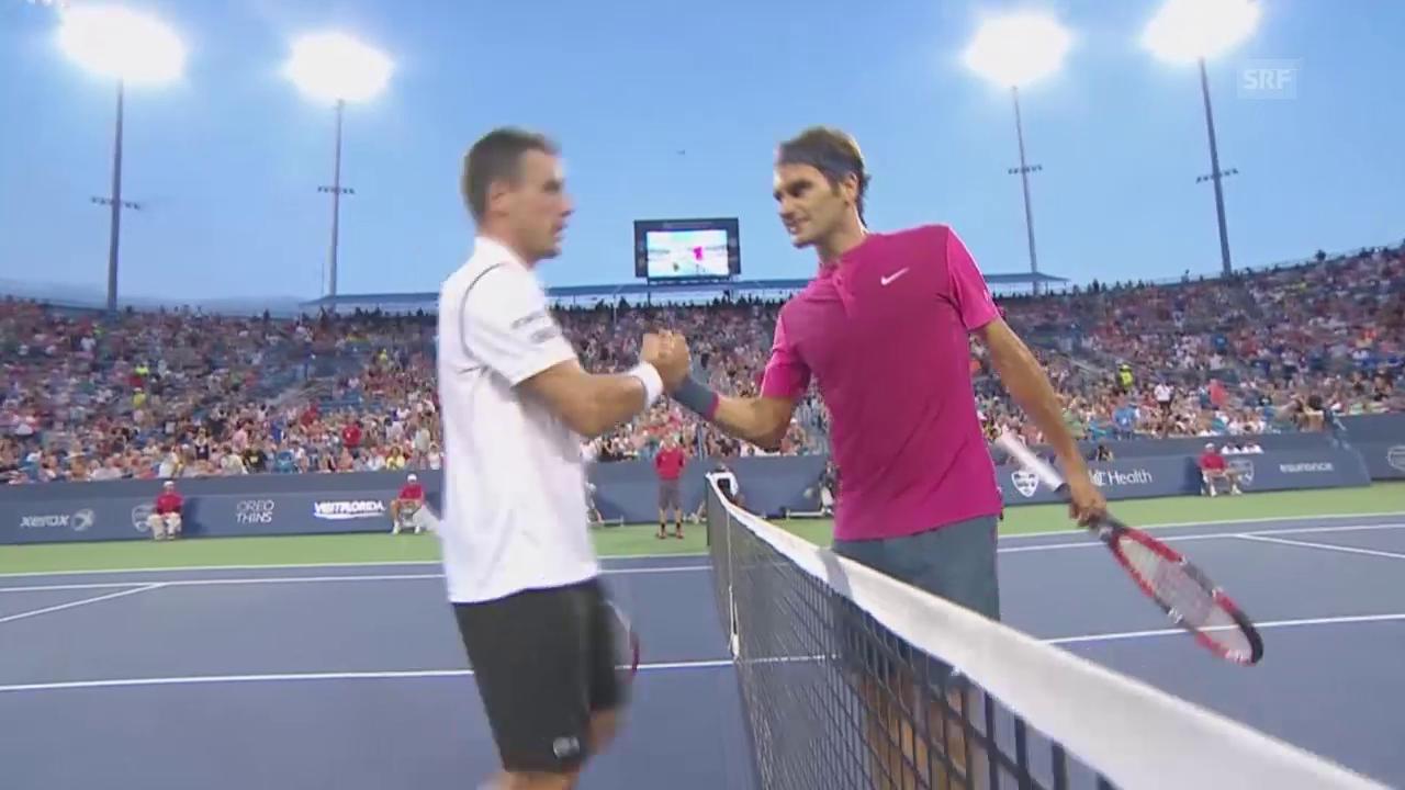 Tennis: Cincinnati, Federer - Bautista Agut