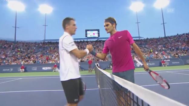 Video «Tennis: Cincinnati, Federer - Bautista Agut» abspielen
