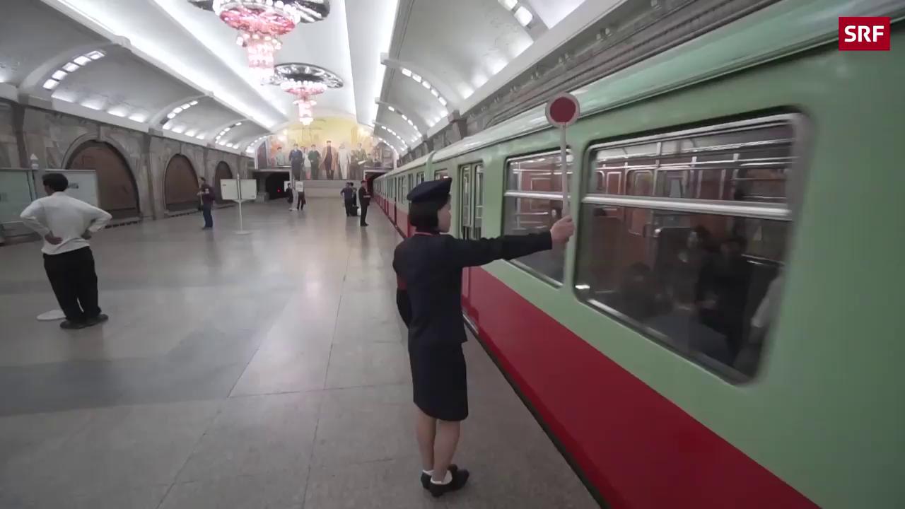 Metro-Fahrt durch Pjöngjang