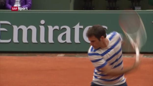 Video «Federer vor dem French-Open-Auftakt («sportaktuell»)» abspielen