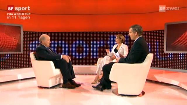 Sepp Blatter und die FIFA-WM in Afrika
