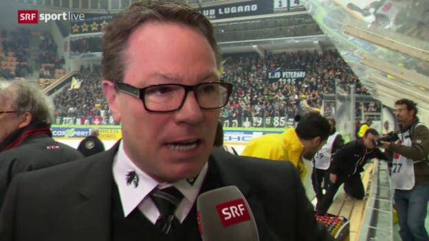 Video «Genfs Chris McSorley nach dem 6:1-Sieg» abspielen