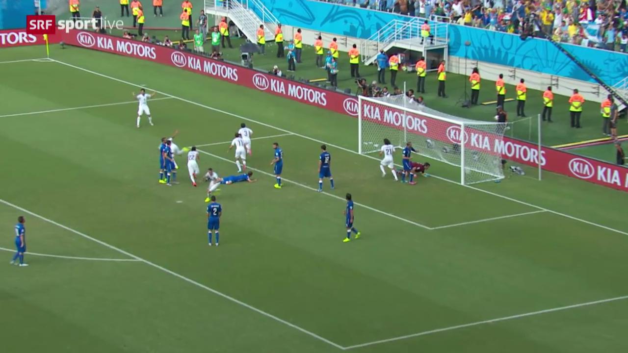 Fussball: FIFA WM 2014, Kurzzusammenfassung Italien - Uruguay
