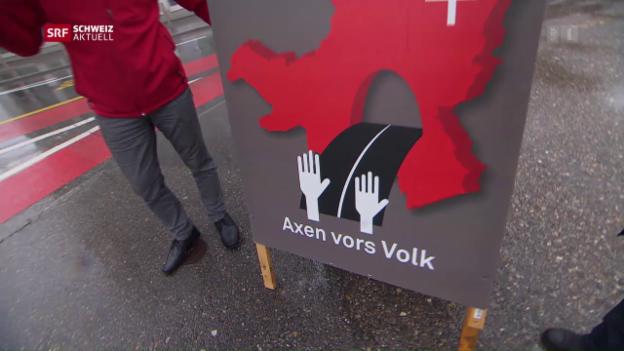 Video «Ausbau der Axenstrasse provoziert Widerstand» abspielen
