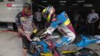Video «Tom Lüthis Feuertaufe auf der MotoGP-Maschine» abspielen