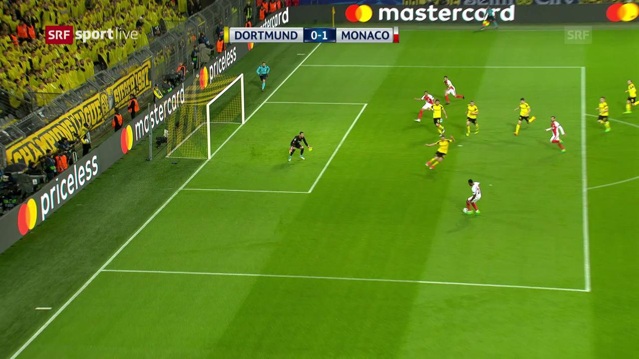 Dortmund-Monaco: Offside übersehen