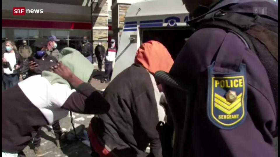 Gewalt und Plünderungen in Südafrika