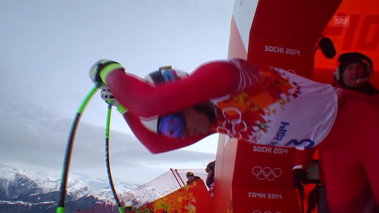 Sotschi: Ski, Abfahrt Männer, Fahrt Janka