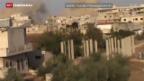 Video «Syrische Armee südlich von Aleppo auf Vormarsch» abspielen