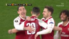 Link öffnet eine Lightbox. Video Live-Highlights Arsenal - Milan abspielen