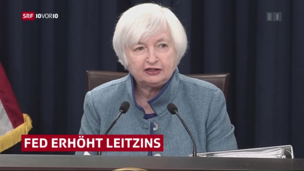 Video «US-Notenbank erhöht den Leitzins» abspielen