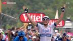 Video «Kittel holt ersten Etappensieg an der 100. Tour de France» abspielen