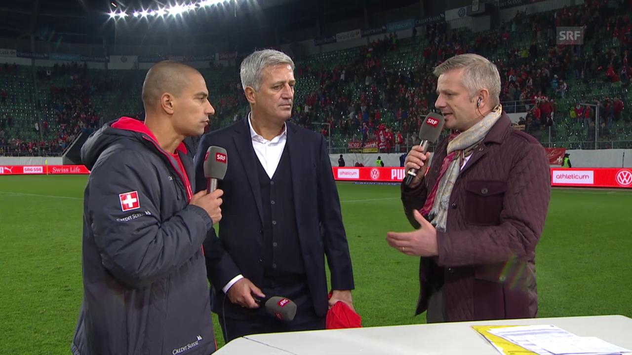 Fussball: Gespräch mit Inler und Petkovic