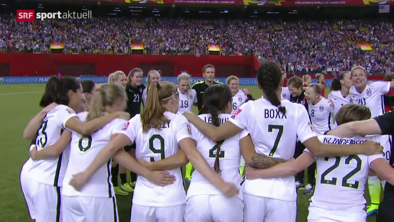 Fussball: WM Frauen, Halbfinal USA - Deutschland