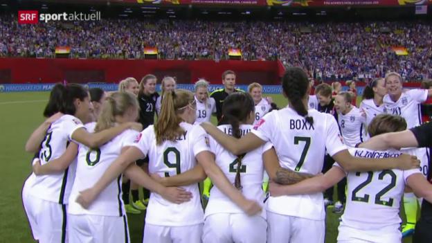 Video «Fussball: WM Frauen, Halbfinal USA - Deutschland» abspielen
