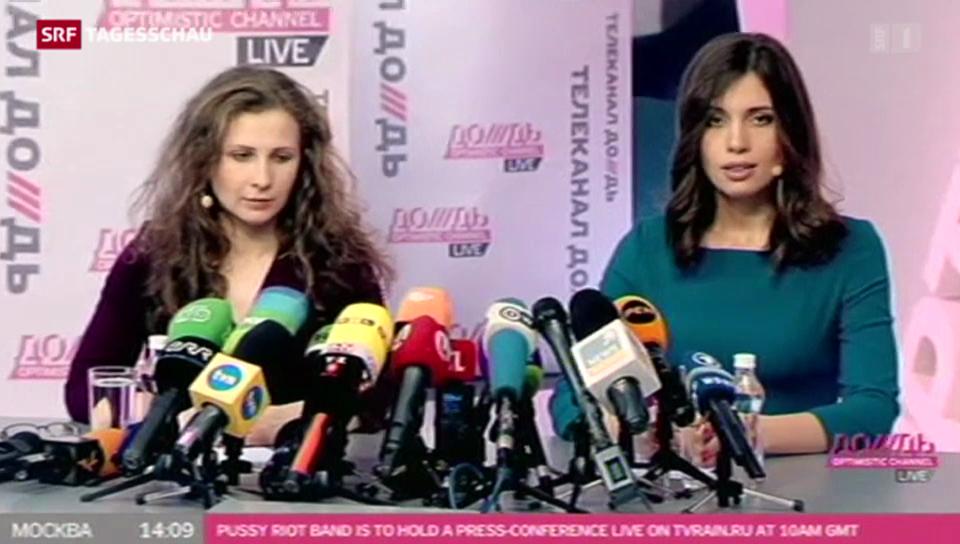 Pussy Riot bleiben auf Konfrontationskurs