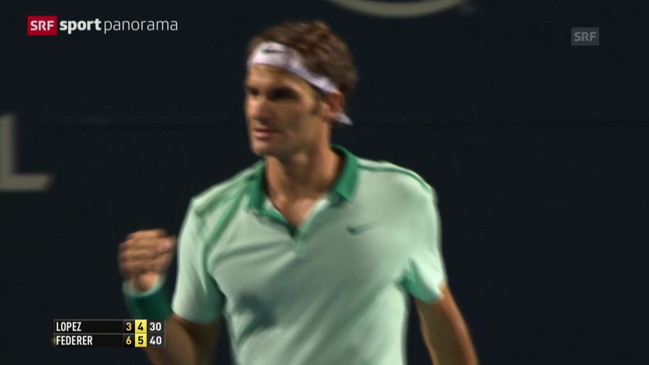 Tennis: ATP Toronto, Federer - Lopez