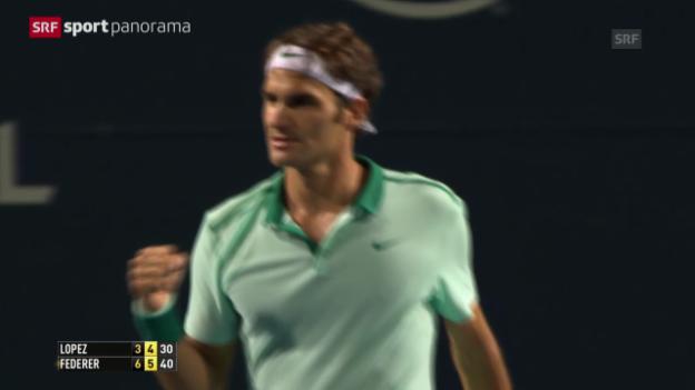 Video «Tennis: ATP Toronto, Federer - Lopez» abspielen