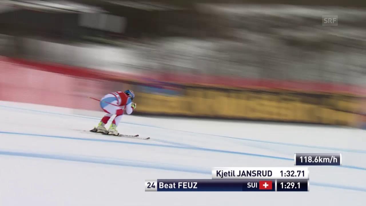 Beat Feuz fährt sein bestes Super-G-Ergebnis der Saison ein