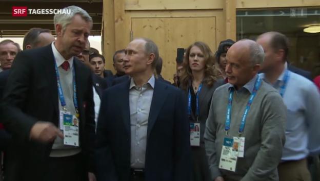 Video «Putin zu Besuch im «House of Switzerland»» abspielen