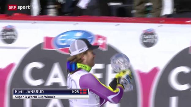 Video «Ski Alpin: Weltcupfinale 2015, Super-G Männer» abspielen
