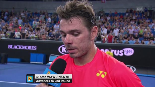 Video «Wawrinka: Man will nie wegen Verletzung des Gegners siegen» abspielen