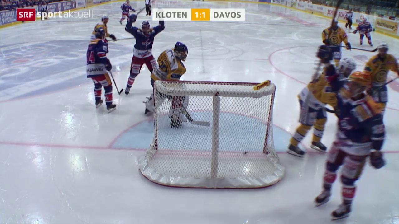 Eishockey: NLA, Kloten - Davos