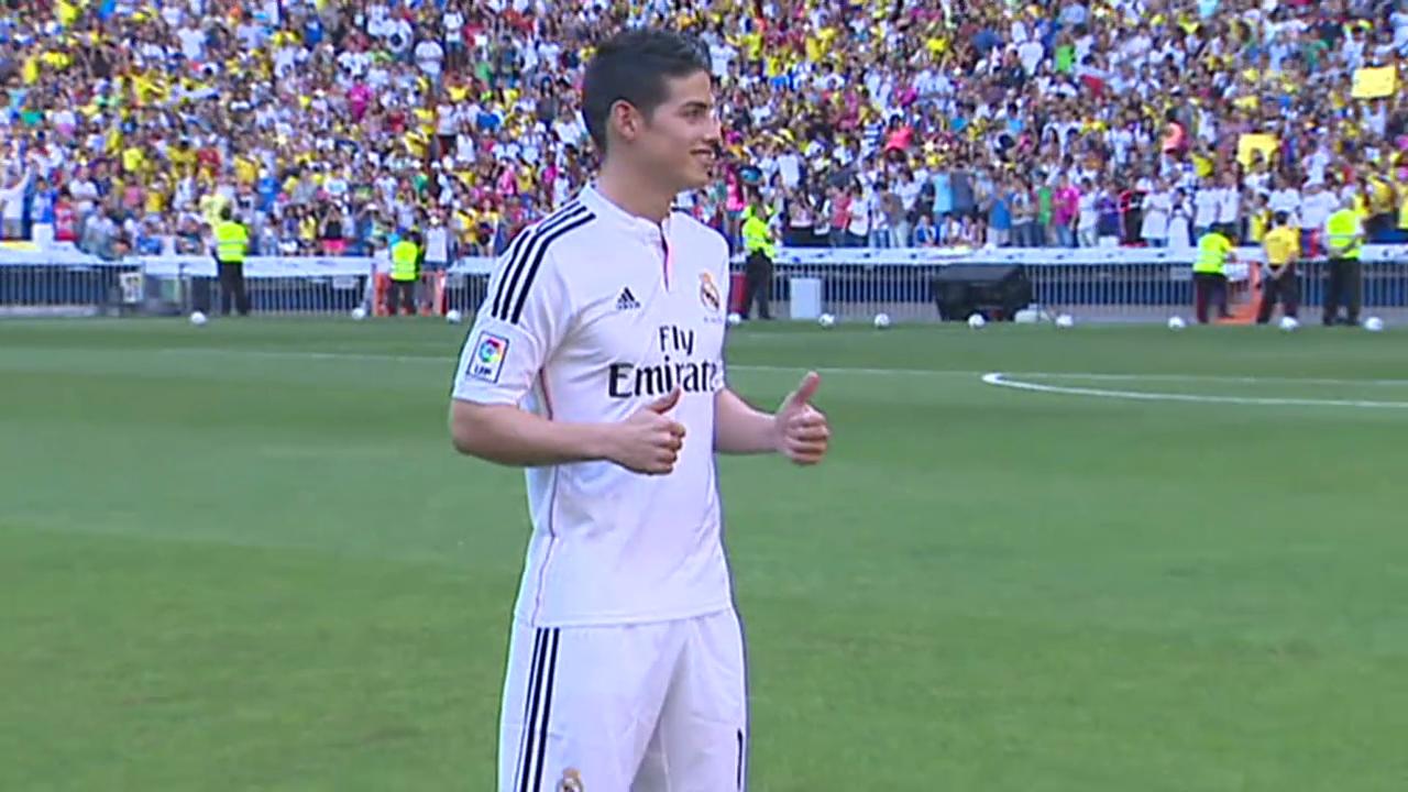 Fussball: James Rodriguez wird bei Real vorgestellt