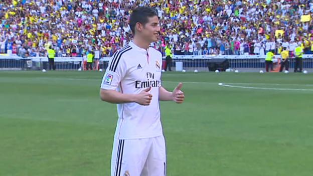 Video «Fussball: James Rodriguez wird bei Real vorgestellt» abspielen