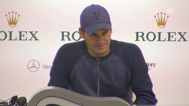 Video «Tennis: ATP Schanghai, Federer zu den Bedingungen» abspielen