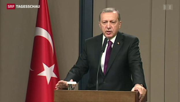 Video «Erdogan kündigt Friedensprozess mit Kurden auf» abspielen