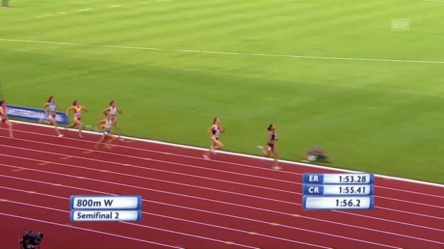 Video «Selina Büchel souverän im Final über 800 m» abspielen