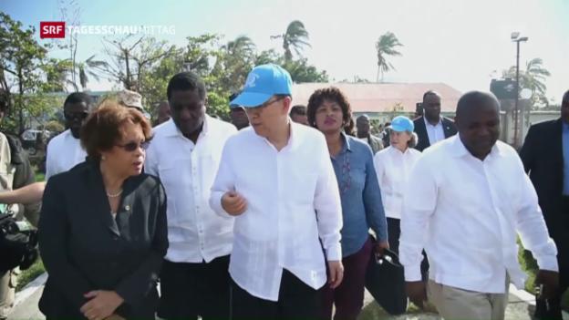 Video «UNO fordert mehr Hilfe für Haiti» abspielen