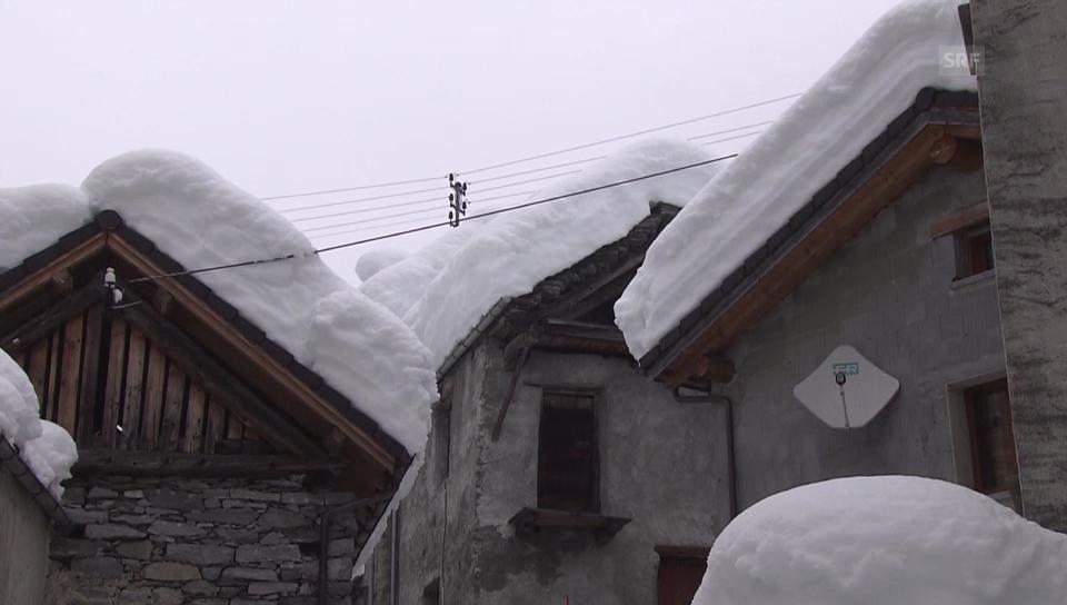 Bis drei Meter Schnee im Tessin (unkommentiert)