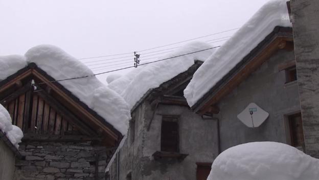 Video «Bis drei Meter Schnee im Tessin (unkommentiert)» abspielen