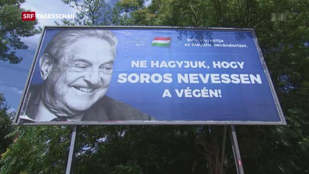 Video «George Soros – weder in Israel noch in Ungarn erwünscht» abspielen