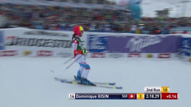 Video «Ski Alpin: Weltcup Kühtai, Riesenslalom, 2. Lauf Dominique Gisin» abspielen