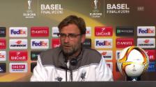 Video «Liverpool-Trainer Jürgen Klopp vor dem EL-Final gegen Sevilla» abspielen