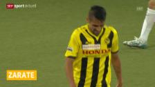 Video «Fussball: Zarate wechselt zum FC Thun» abspielen