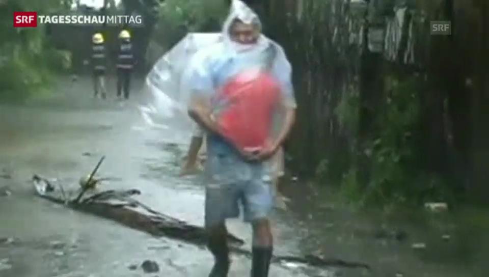 Taifun zwingt Tausende zur Flucht