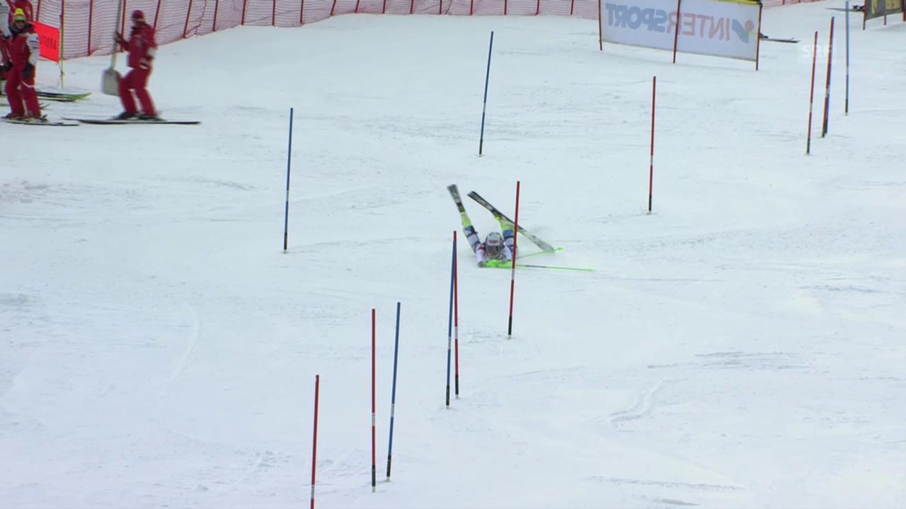 Ski Alpin, Frauen Weltcup, Super-Kombi in Val d'Isère, Out von Feierabend