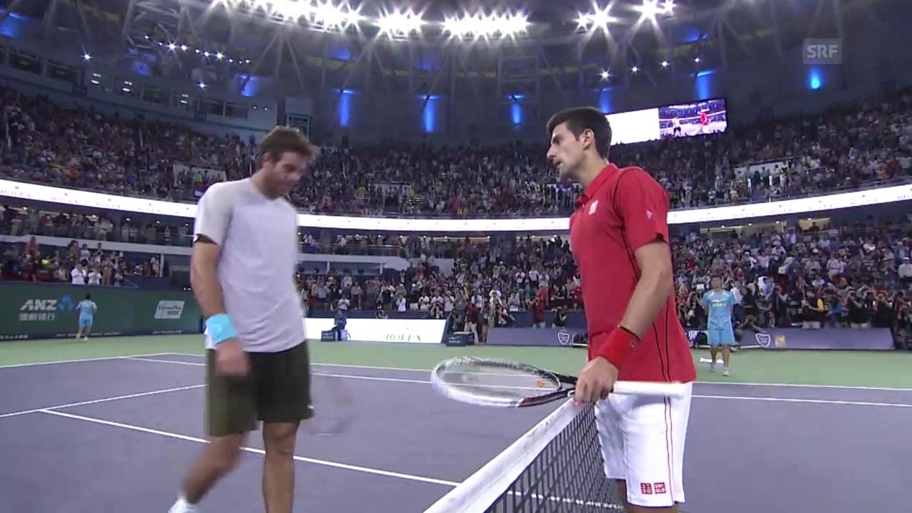 Djokovic - Del Potro: Satz- und Matchbälle (unkommentiert)