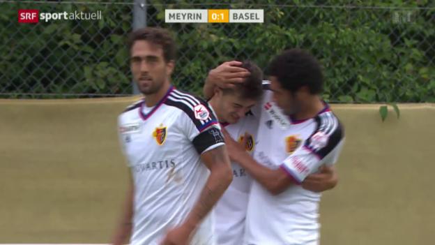Video «Fussball: Cup, Meyrin - Basel» abspielen