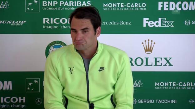 Video «Tennis: Monte Carlo, Federer nach Out» abspielen