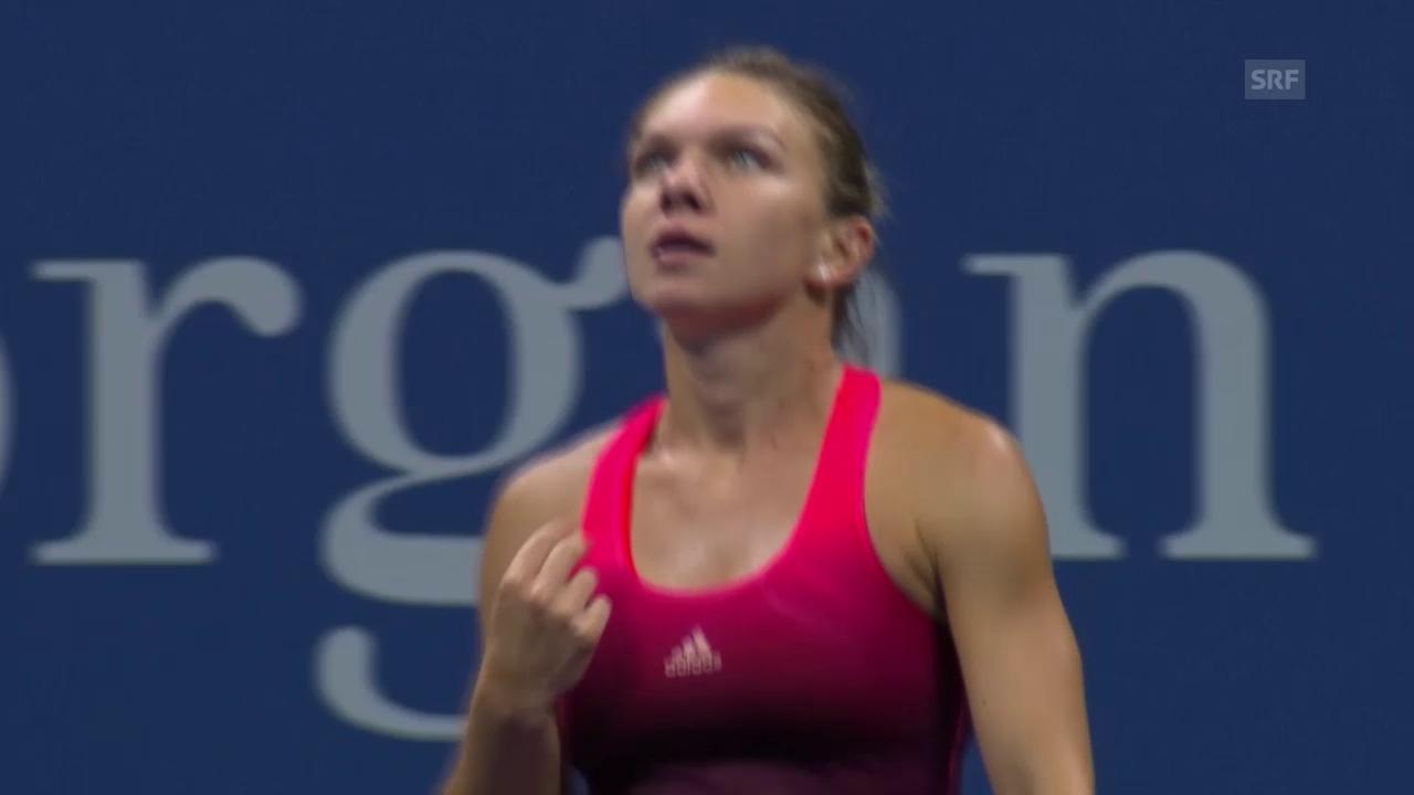 Tennis: US Open 2015, 3. Runde, Halep - Rogers