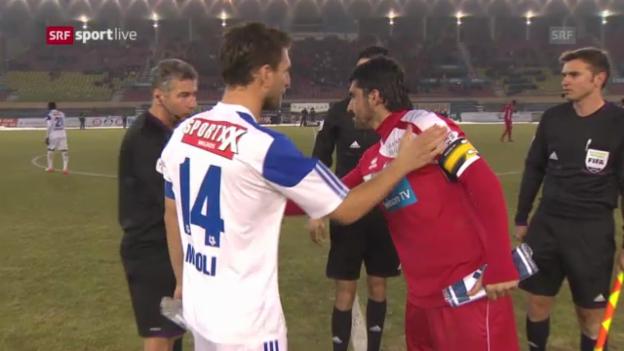 Video «Cup: Lausanne - Sion» abspielen