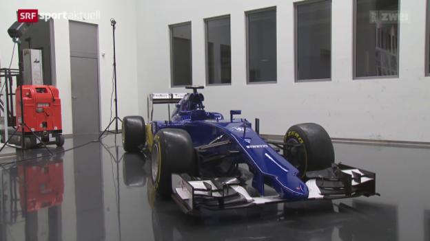 Video «Formel 1: Der Roll-out des neuen Sauber C34» abspielen
